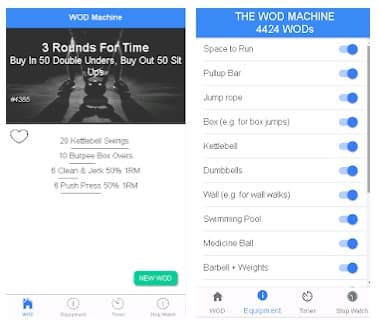 WOD Machine app crossfit