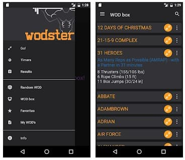 WODster app para crossfit workouts