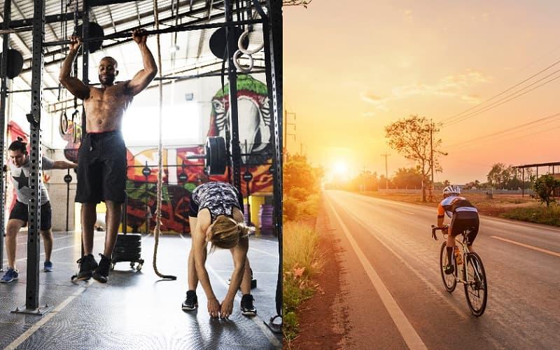 Combinar crossfit con ciclismo